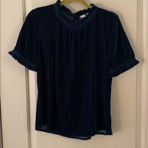 Gap dark blue velvet blouse 💙